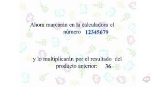 Manejo de números. Matemagia (Divertiaula). Number trick.