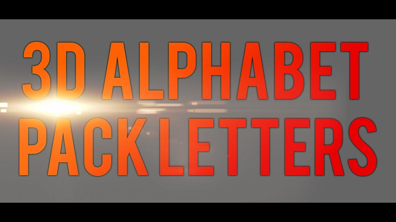 Download 3D ALPHABET PACK LETTERS - FREE DOWNLOAD - + CINEMA 4D ...