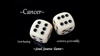 ~Cancer~Focus on the Future~Feb 26 to March 4, 2018 Weekly Tarot Reading