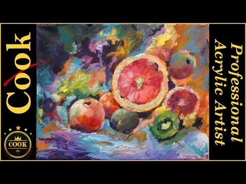 Ginger Cook will have a Live YouTube Acrylic Painting Tutori