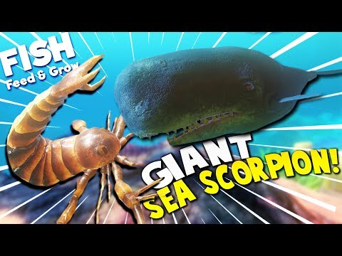 GIANT SEA SCORPION vs GIANT BOSS WHALE?! | Feed And Grow Fish Gameplay