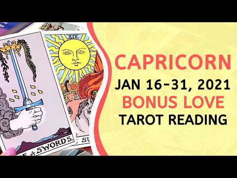 CAPRICORN BONUS ❤️ They're Secretly Having Regrets ~ Love Tarot January 16-31, 2021