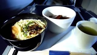 ANAビジネスクラスシートを1分映像でご紹介。噂の機内軽食、一風堂とん...