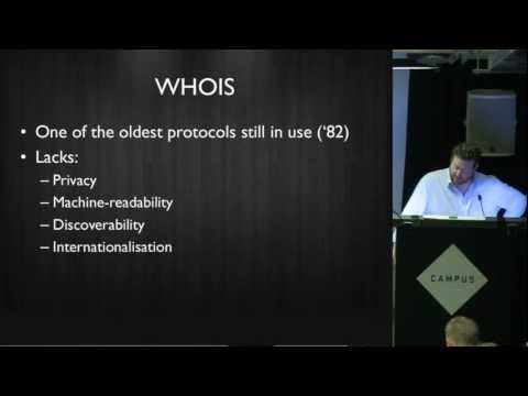 UKNOF23 WEIRDS - The Whois Replacement Protocol