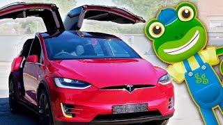 Електромобілі для дітей | Тесла модель Х | Гекко реальними засобами