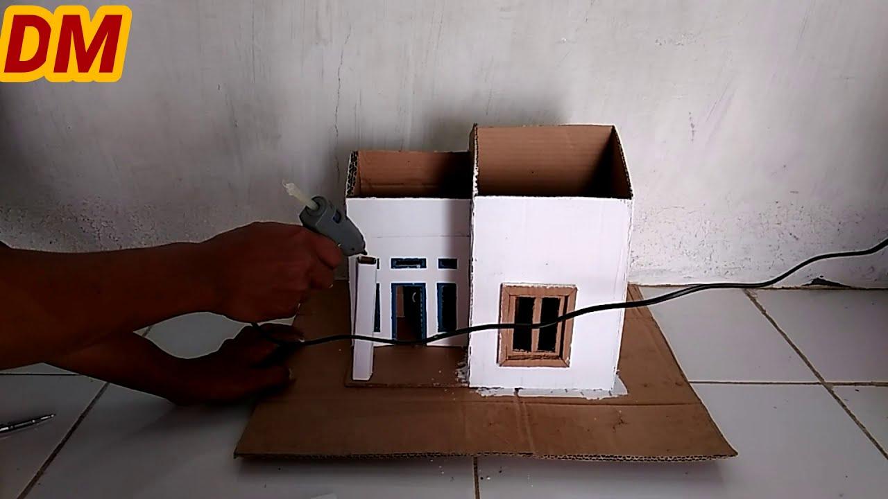 KREATIF. Desain Rumah Minimalis Terbuat Dari Kardus - YouTube