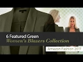6 Featured Green Women's Blazers Collection Amazon Fashion 2017