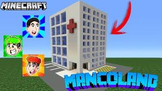 ¡CREAMOS EL HOSPITAL DE LA CIUDAD en MINECRAFT! MANCOLAND #11