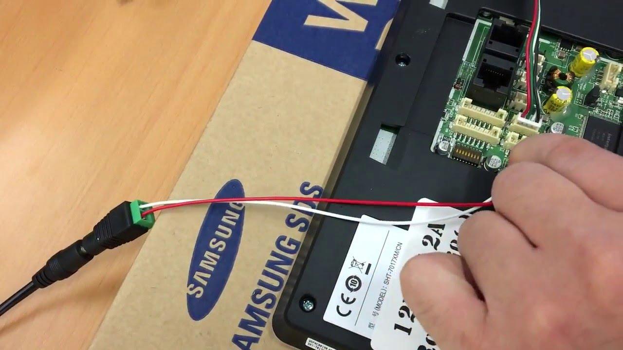Anschluss Einer Samsung Video Tursprechanlage Mit 7 Lcd Full