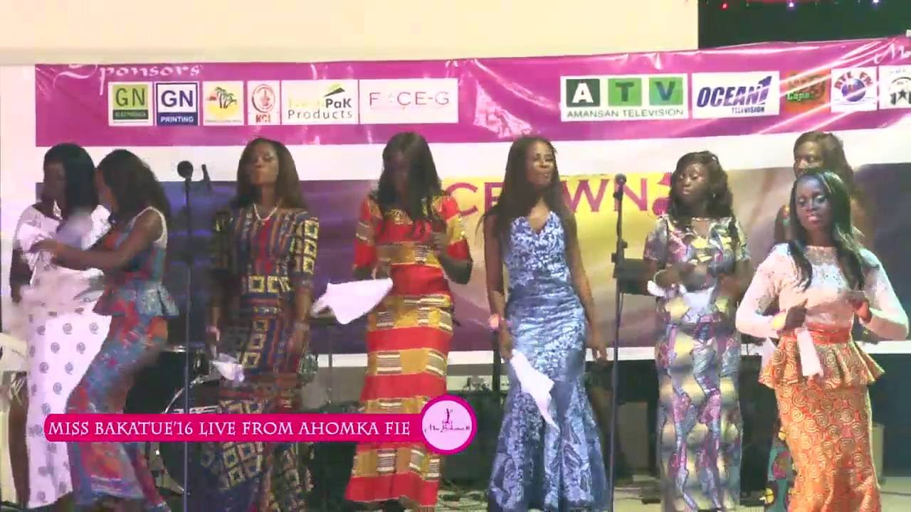 Miss Edina Bakatue 2016 - All Contestants on stage Local Dance