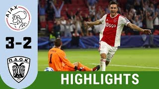 Ajax vs PAOK 3 - 2 Highlights   UEFA Champions League 19 20 Qualifiers
