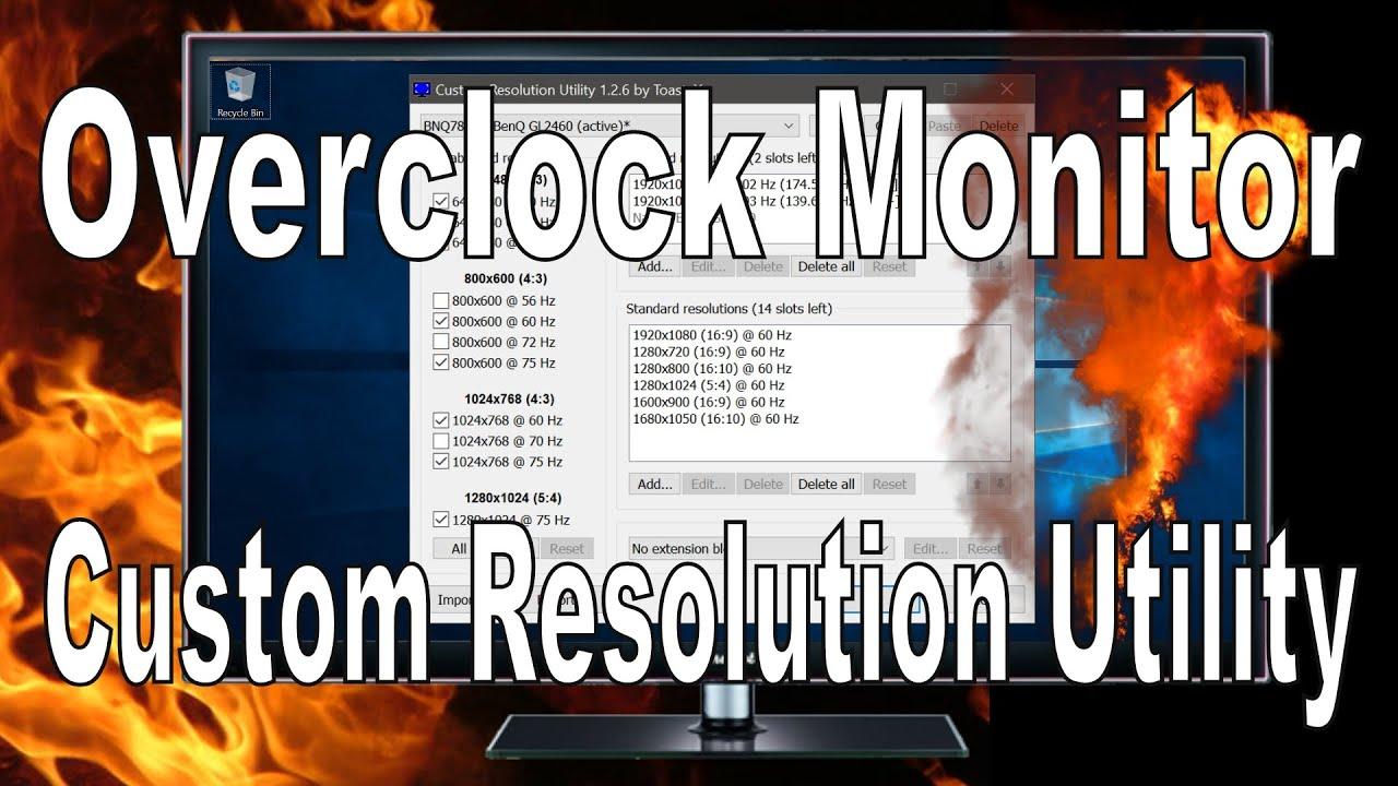 Overclocking Monitor with CRU Tutorial (Nvidia Super Resolution Fix)