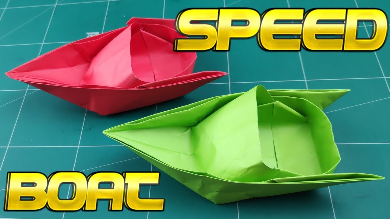 How To Make A Paper Boat Diy Easy Paper Speed Boat Origami Paper