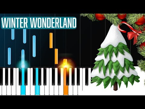 """""""Winter Wonderland"""" Piano Tutorial - Chords - How To Play - Cover"""