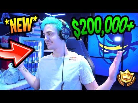NINJA REVEALS HIS *NEW* $200,000 STREAM ROOM/GAMING SETUP! *LEGENDARY* Fortnite Moments