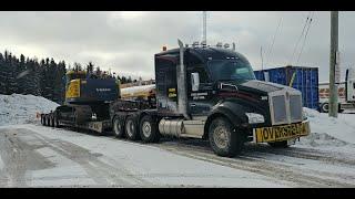 First video of 2020 -- Cochrane, ON -- Volvo excavator