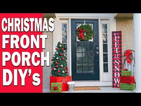 CHRISTMAS FRONT PORCH ENTRYWAY DECOR IDEAS DIY CHRISTMAS SIGN