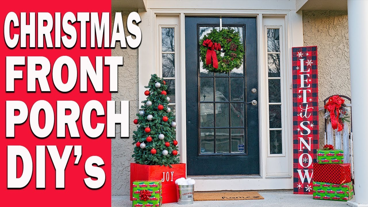 CHRISTMAS FRONT PORCH ENTRYWAY DECOR IDEAS DIY CHRISTMAS SIGN