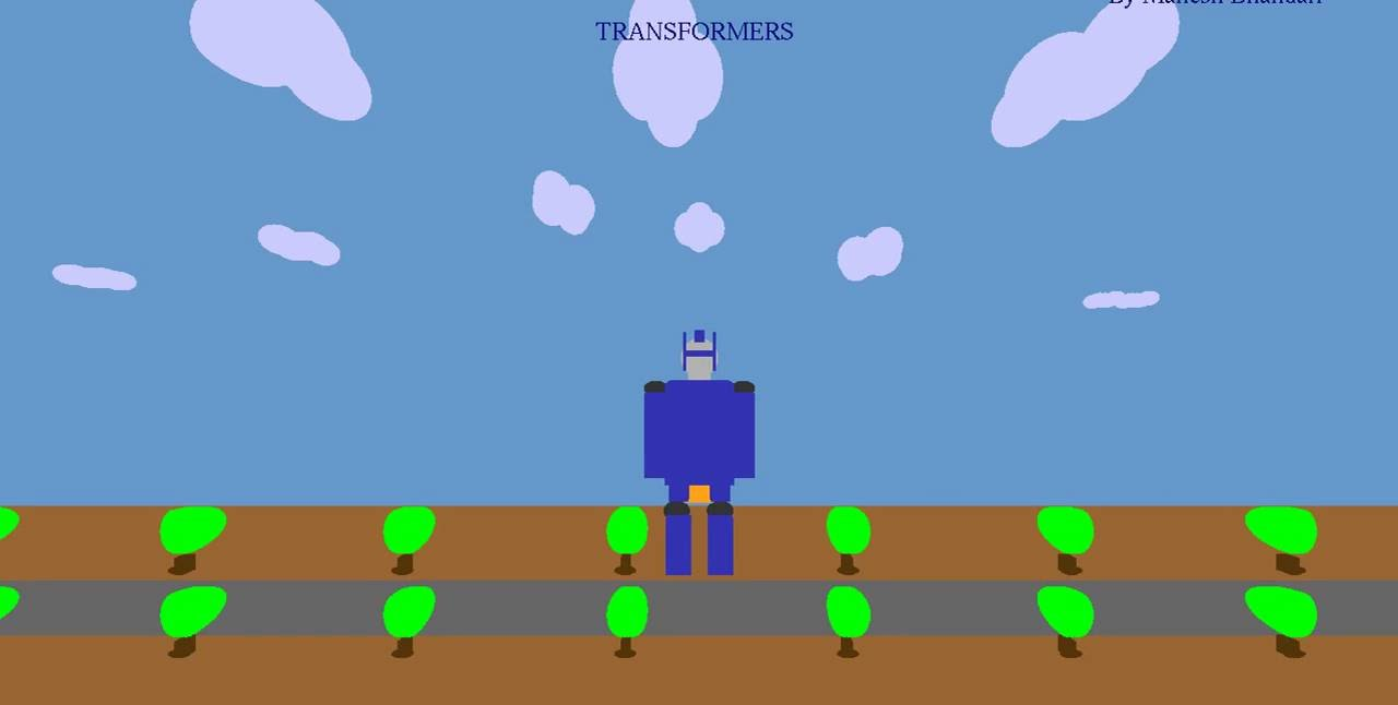 OpenGL Project - Simple animated Transformers