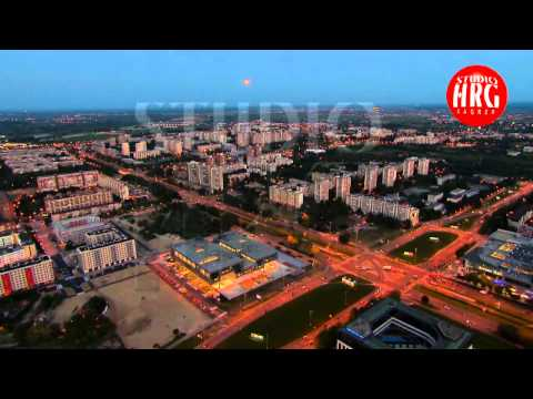 ZAGREB - Aerial TV footage
