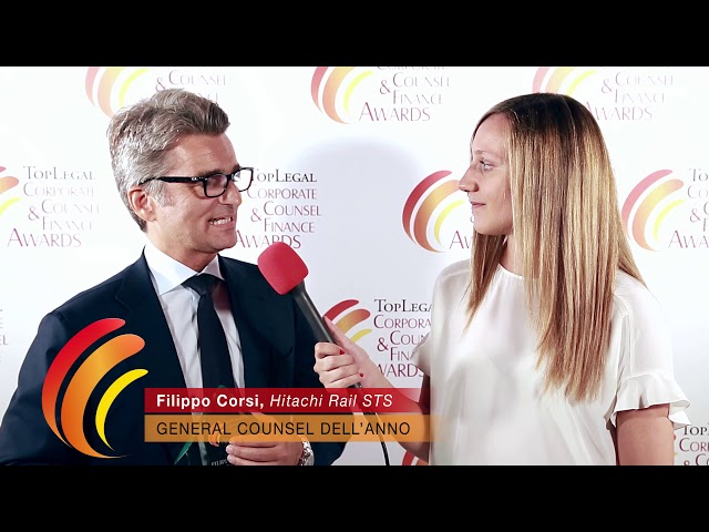 Filippo Corsi, Hitachi Rail STS - TopLegal Corporate Counsel & Finance Awards 2019