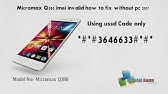 Restore a Deleted IMEI number in Canvas A1 AQ4502 ||This