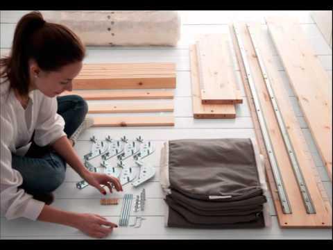 Ikea Leirvik Bed Frame Assembly Youtube