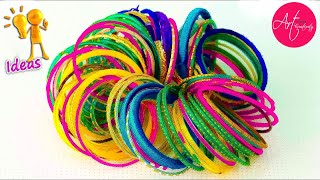 3 Easy way to reuse old bangles at home | Best out of waste | Art with Creativity