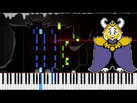 Undertale // Asgore | LyricWulf Piano Tutorial on Synthesia // OST 77