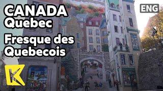 【K】Canada Travel-Quebec[캐나다 여행-퀘벡]16인 프레스코 벽화/Fresque/Painting/Samuel Champlain/Jacques Cartier