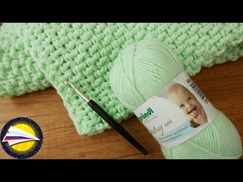 Вязание крючком детского одеяла
