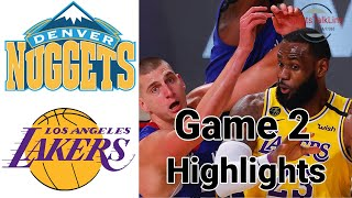 Nuggets vs Lakers HIGHLIGHTS Full Game  NBA Playoff Game 2