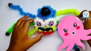 Learn Color With Colorful Octopus Handmade By Thorn Ball For Kid