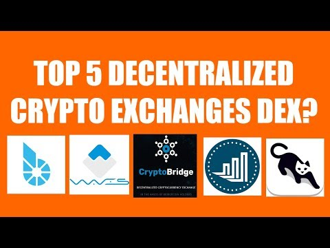 TOP 5 DECENTRALIZED CRYPTO EXCHANGES DEX?