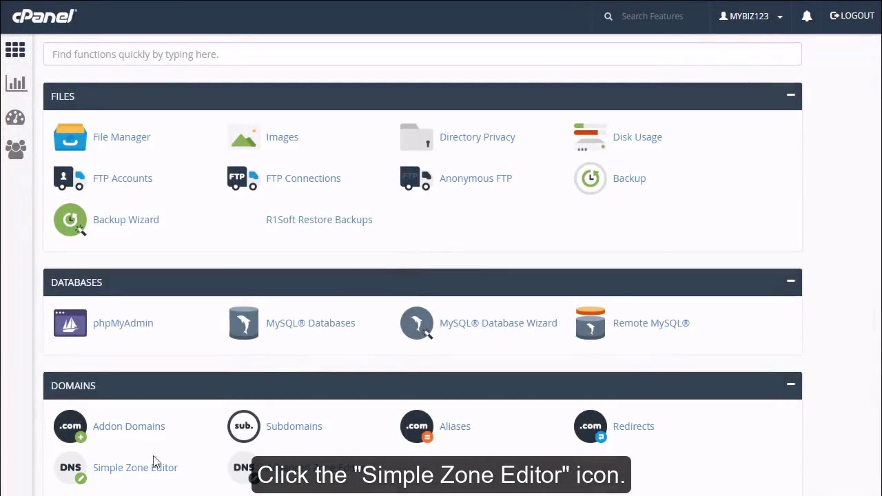 How to add a record with the DNS Zone Editor in cPanel?
