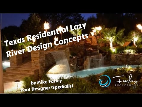 Pool Tour - Texas Residential Lazy River Design Concepts - Youtube
