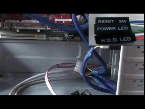 Asus h61m-k подключить power led hdd reset