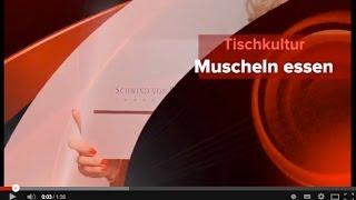 Tischkultur - Muscheln essen