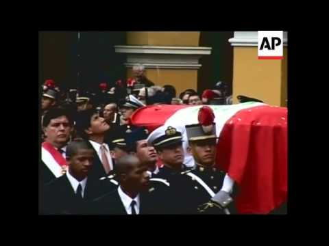 Ceremony for former Peruvian president who died on Monday
