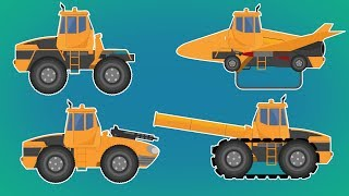 Transformer | Fighter Jet Tank | Tank Destroyer  | Sentry Gun Tank | Vehicles Video For Kids
