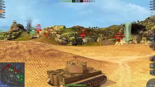 World Of Tanks Blitz Game Play (Kuro Muri Mine(Tiger 1)) v4.1.0