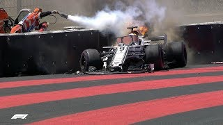 2018 French Grand Prix: FP1 Highlights