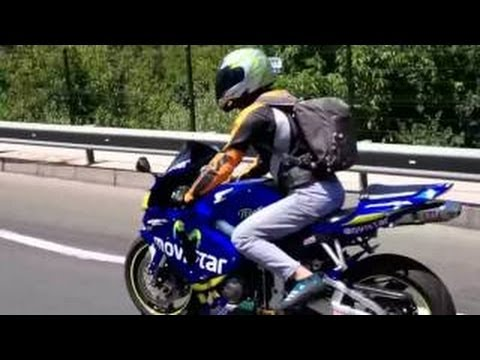 06 Honda CBR 600RR Movistar & Caddede yardırıyor & Ride on TURKEY