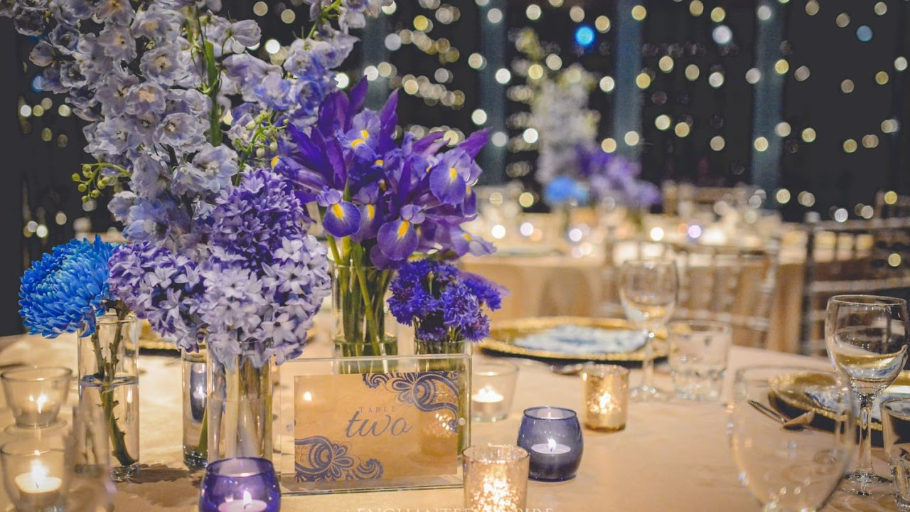 Blue and Champagne Gold Wedding, styled by Enchanted Empire, Event ...