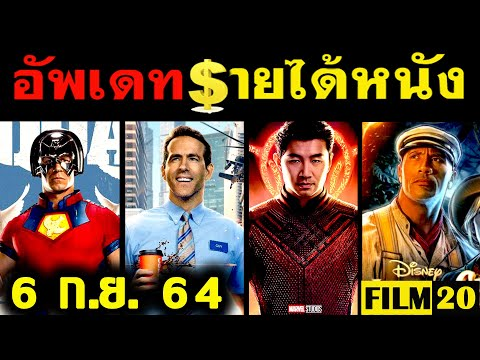 อัพเดทรายได้หนัง Shang Chi - Suicide Squad - Jungle Cruise - Free Guy - F9  อื่นๆ ณ 6 ก.ย. 64