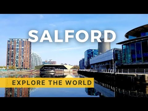 Walking in MediaCityUK and Salford Quays (4K), UK