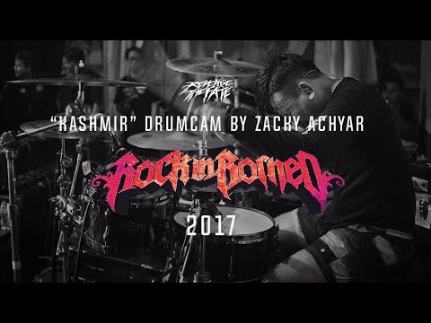 REVENGE THE FATE - KASHMIR ( DRUM CAM LIVE AT ROCK IN BORNEO 2017 )