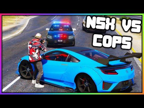 GTA 5 Roleplay - NSX vs COPS POLICE CHASE | RedlineRP