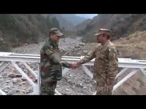 Pakistan And india Army's Give And Take Respect With Flowers