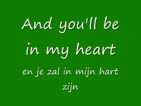 Phil Collins - You'll be in my heart + English Lyrics & Dutch translated